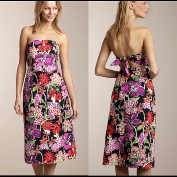 Lilly Pulitzer Dresses & Skirts - Lilly Pulitzer strapless tie-in back dress